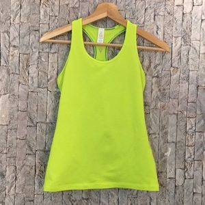 Ivivva neon yellow tank top size 12
